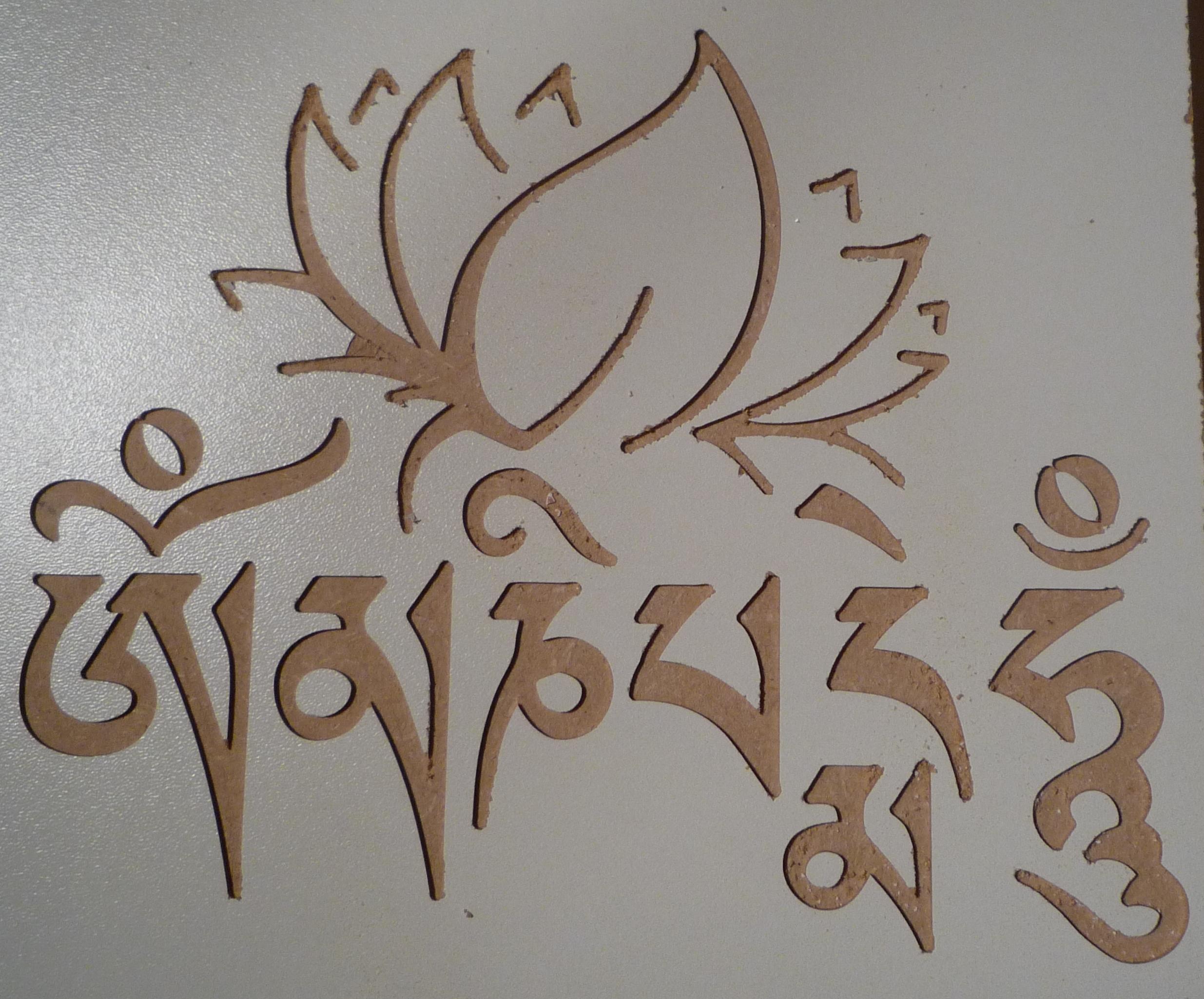 Motif et écriture Tibétaine