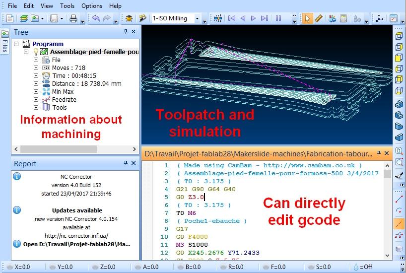 Simuler un usinage | Tutorials Makerslide machines