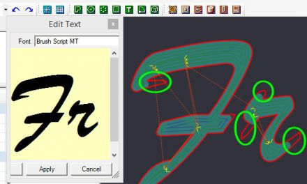 Engraving with windows fonts