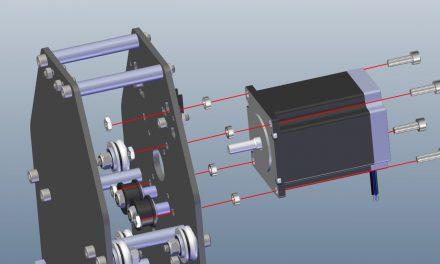 1 – Fixation du moteur du chariot X