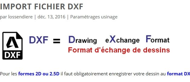 Import DXF