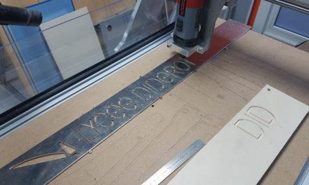 Découpe de lettres et Logo dans de l'aluminium